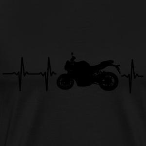 MY HEART BEATS FOR MOTORCYCLES Hoodies & Sweatshirts - Men's Premium T-Shirt