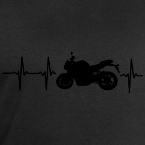 MY HEART BEATS FOR MOTORCYCLES Shirts - Men's Sweatshirt by Stanley & Stella