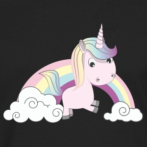 Licorne Rose Tee shirts - T-shirt manches longues Premium Homme