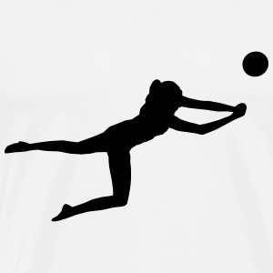 Beachvolleyball - Volleyball Langarmshirts - Männer Premium T-Shirt