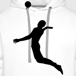 Beachvolleyball - Volleyball Tee shirts - Sweat-shirt à capuche Premium pour hommes