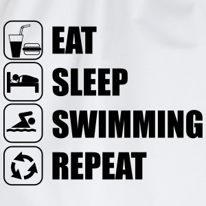 Eat Sleep Swimming Repeat T-Shirts - Turnbeutel