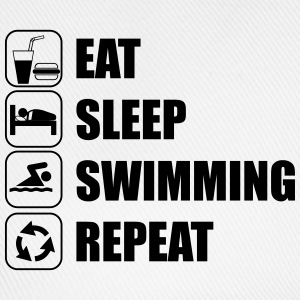 Eat Sleep Swimming Repeat T-Shirts - Baseballkappe