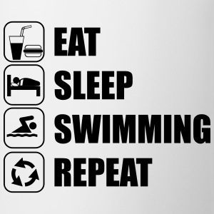 Eat Sleep Swimming Repeat T-shirts - Kop/krus