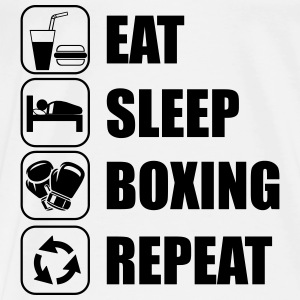 Eat Sleep Boxing Repeat Sportkleding - Mannen Premium T-shirt