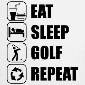 Eat Sleep Golf Repeat Poloshirts - Forklæde