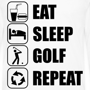 Eat Sleep Golf Repeat T-shirts - Mannen Premium shirt met lange mouwen