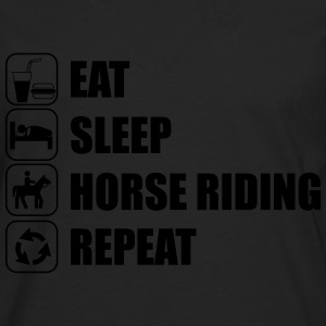 Eat Sleep Horse Riding  Camisetas - Camiseta de manga larga premium hombre