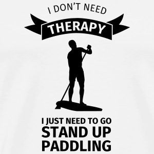 I don't neet therapy I just need to go stand up pa Krus & tilbehør - Herre premium T-shirt
