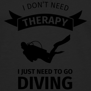 I don't neet therapy I just need to go diving Bouteilles et Tasses - T-shirt manches longues Premium Homme