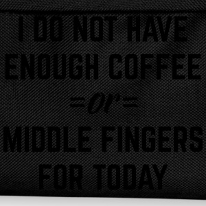 Coffee & Middle Fingers Funny Quote Sports wear - Kids' Backpack