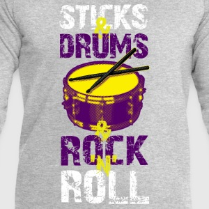 Sticks And Drums And Rock And Roll - White - Men's Sweatshirt by Stanley & Stella