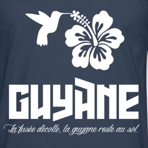 Tee Shirt France Guyane 973 Proverbe fusée - T-shirt manches longues Premium Homme