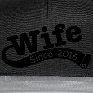 Wife Since 2016 T-Shirts - Snapback Cap