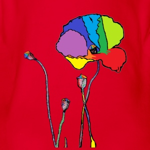rainbow poppy T-Shirts - Baby Bio-Kurzarm-Body