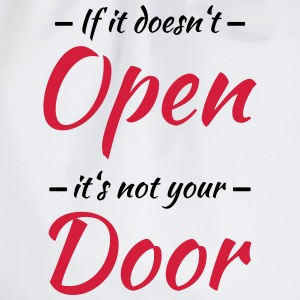 If it doesn't open, it's not your door Langarmshirts - Turnbeutel