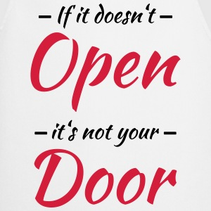 If it doesn't open, it's not your door Maglie a manica lunga - Grembiule da cucina