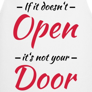 If it doesn't open, it's not your door Långärmade T-shirts - Förkläde
