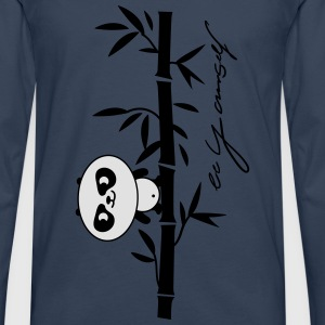 be yourself (panda) Baby-bodyer - Herre premium T-shirt med lange ærmer