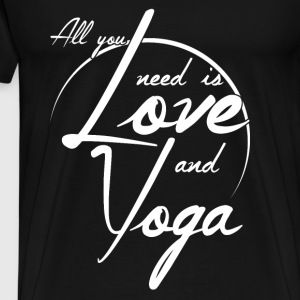 Yoga and Love Pullover & Hoodies - Männer Premium T-Shirt