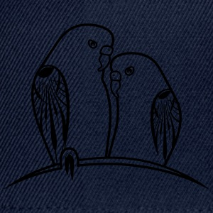 perruches oiseaux Tee shirts - Casquette snapback