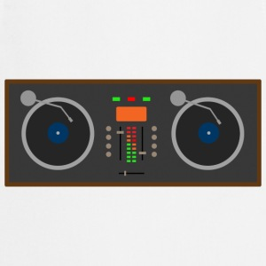 DJ Turntable T-Shirt White mens - Cooking Apron