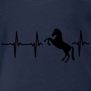 A HEART FOR HORSES - I LOVE HORSES! Shirts - Organic Short-sleeved Baby Bodysuit