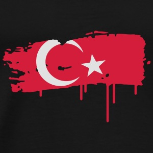 a Turkish flag as graffiti Umbrellas - Men's Premium T-Shirt