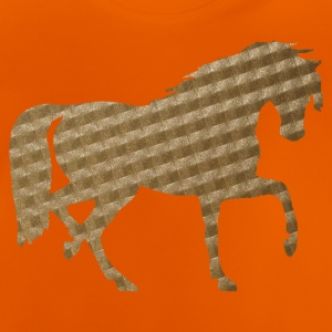 Horse in Brown Squares Shirts - Baby T-Shirt