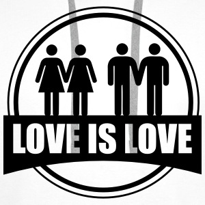 LOVE IS LOVE GAY LESBIAN T-shirts - Premiumluvtröja herr