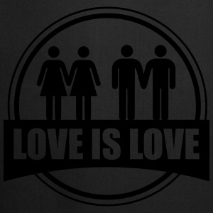 LOVE IS LOVE GAY LESBIAN T-shirts - Förkläde