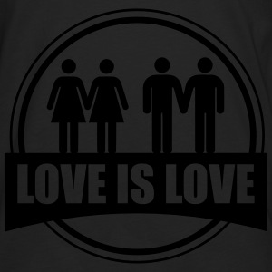 LOVE IS LOVE GAY LESBIAN T-shirts - Långärmad premium-T-shirt herr
