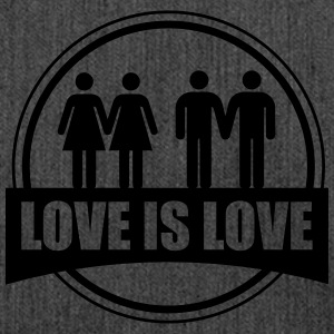 LOVE IS LOVE GAY LESBIAN T-shirts - Skuldertaske af recycling-material