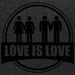 LOVE IS LOVE GAY LESBIAN Tee shirts - Casquette snapback