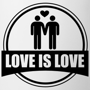 LOVE IS LOVE GAY Magliette - Tazza