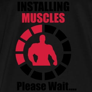 Installing Muscles (Loading) Funny Sports wear - Men's Premium T-Shirt