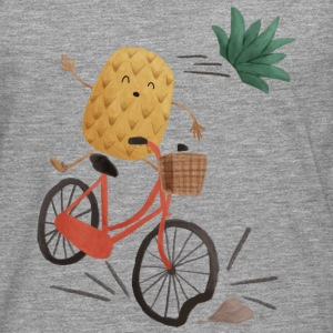Pineapple Bike Obstacle T-skjorter - Premium langermet T-skjorte for menn