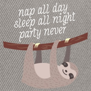 Nap All Day, Sleep All Night, Party Never T-Shirts - Snapback Cap