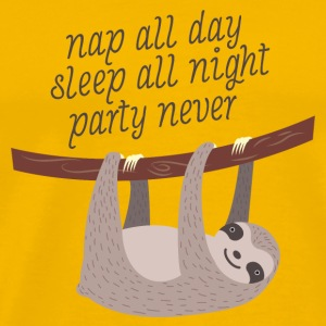 Nap All Day, Sleep All Night, Party Never Kopper & tilbehør - Premium T-skjorte for menn