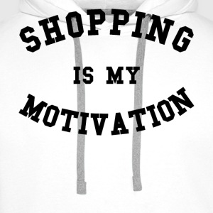 Shopping is my motivation - Sweat-shirt à capuche Premium pour hommes