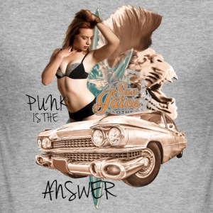punk is the answer Pullover & Hoodies - Männer Slim Fit T-Shirt