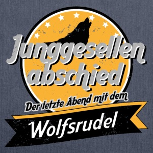 Wolfsrudel - Vintage Sportbekleidung - Schultertasche aus Recycling-Material
