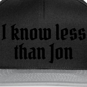 I know less than Jon Bags & Backpacks - Snapback Cap