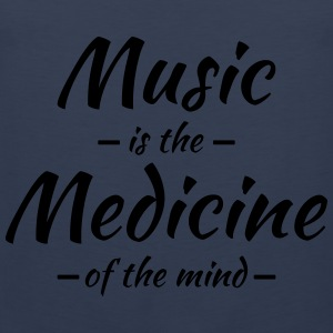 Music is the medicine of the mind Sportkläder - Premiumtanktopp herr