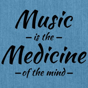 Music is the medicine of the mind Sportsklær - Skulderveske av resirkulert materiale