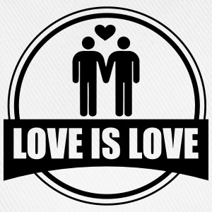 LOVE IS LOVE GAY T-shirts - Basebollkeps