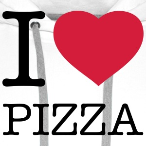 I LOVE PIZZA Tabliers - Sweat-shirt à capuche Premium pour hommes