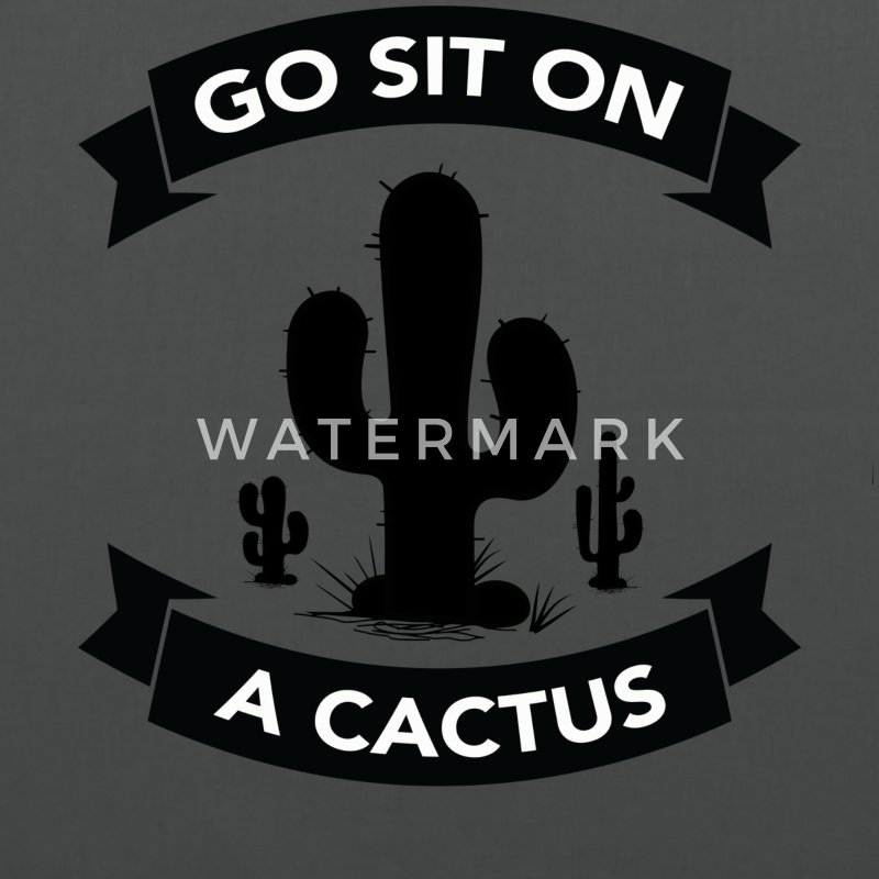 Go sit on a cactus Bags & Backpacks - Tote Bag