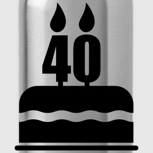 40th Birthday Gifts T-Shirts - Water Bottle