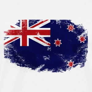 New Zealand Flag - Vintage Look Langarmshirts - Männer Premium T-Shirt